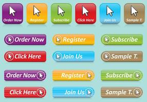Muis Click Button Vector Pack