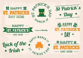 St Patrick Dag Vector Labels