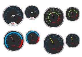 Snelheidsmeter en rpm-vectoren