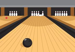 Vector bowlingbaan