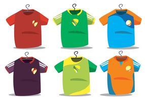 Futsal jersey vector set