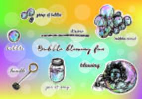 Illustratie Van Gratis Vector Bubbels