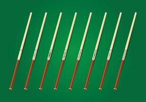 Poolsticks Vector Collectie