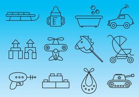 Speelgoed Thin Line Icon Vectors
