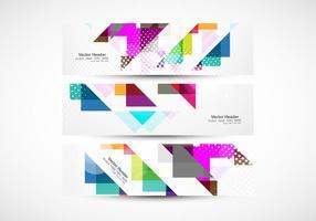 Kleurrijke Driehoekige Koptekst