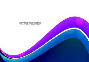 Adreskaartje Met Kleurrijke Golf vector