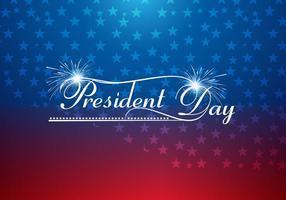 President dag tekst met vuur kraker vector