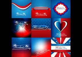 Set Kleurrijke Banner Voor President Day vector
