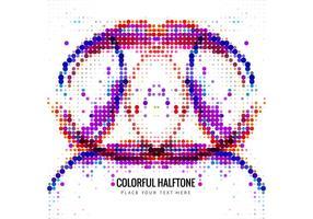 Abstracte Kleurrijke Halftone