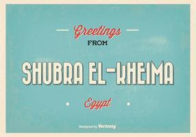 Retro Shubra Egypt Greeting Illustratie
