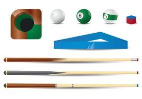 Pool stick vector set