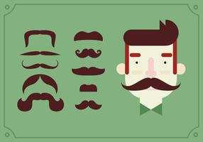 Movember Pin Op Snor Set vector