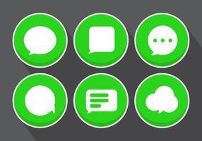 Vector bericht iconen