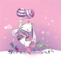 konijn met ballonnen