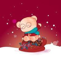 beer met een koffiekopje bedekt met bloemen