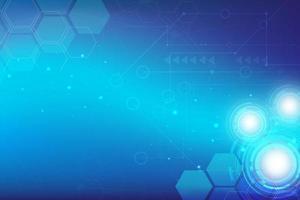abstracte blauwe technische achtergrond met zeshoeken