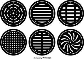 Platte manhole vector hoesjes