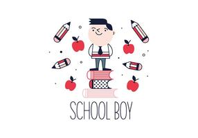 Gratis School Boy Vector