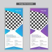 digitale marketingbureau bewegwijzering ontwerpsjabloon vector