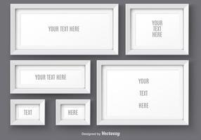 Witte Realistische Foto Frame Vectors