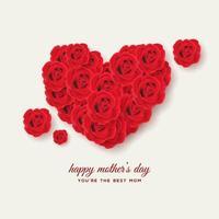 moederdag steeg hart vector