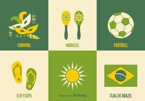 Gratis Brazilië Vector Pictogrammen