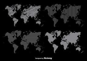 Wereldkaart vector set