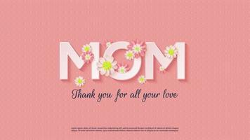 moeder met bloemen vector