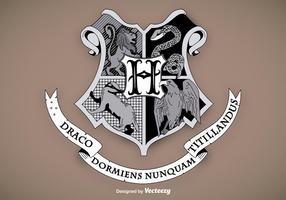 Hogwarts school schild vector