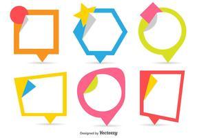 Sticker Style Vector Callouts