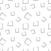 hand getekend zwart geometrisch vierkant patroon vector