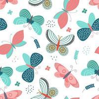 naadloos patroon met vlinders