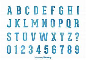 Vector Waterverf Lettertype