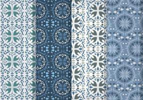 Blauwe Talavera Vector Patronen
