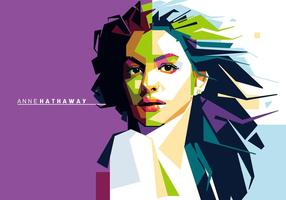 Anne Hathaway Vector Portret