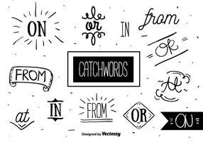 Gratis Catchwords Set Vector