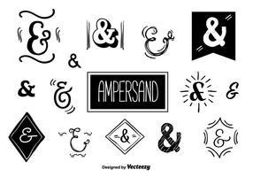 Ampersands vector set