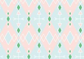 Pastel Geometrische Patroon Achtergrond vector