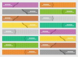 horizontale patroon web koptekst set vector
