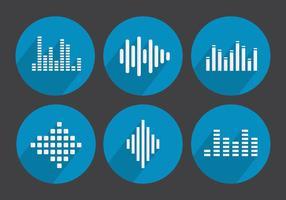 Vector geluidsstaven