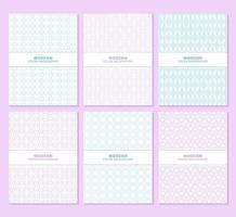 paars en blauw patroon boekomslag set
