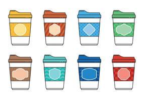 Koffie Minimalistische Pictogramvectoren vector