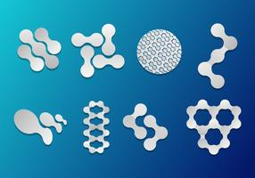 Nanotechnologie Pictogrammen Vector