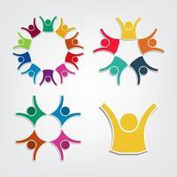 kleurrijke mensen symbolen vector