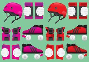 Roller derby apparatuur vectoren
