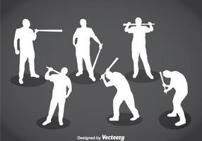 Hooligans silhouet vector