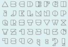 Bauhaus Typevectoren