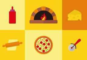 Pizza pictogram vector