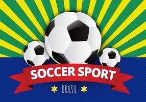 Gratis Soccer Poster Vector