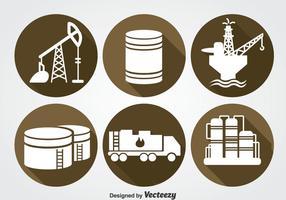 Olie Industrie Pictogrammen Sets